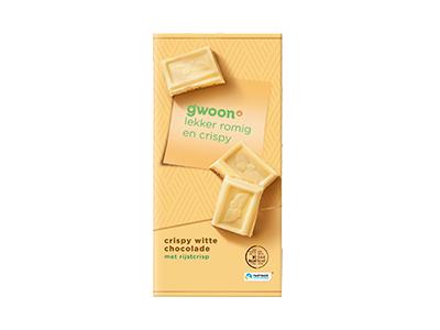Gwoon Witte Chocolade Tablet Crispy