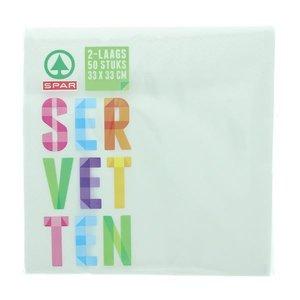 Spar Servetten 2-laags Wit