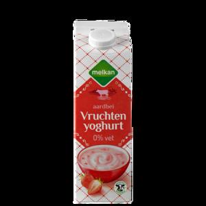 Melkan Magere Vruchten Yoghurt Aardbei